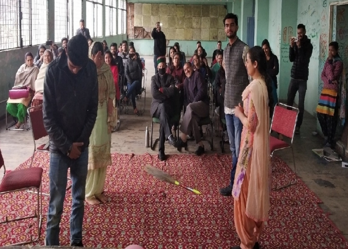 International Women Day, 2019 a skit presented by the MBA-Rural Development , DIS-IIHS